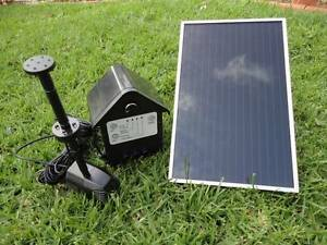 3W Day/Night Solar Fountain Pump W/Timer LED Lights Battery P011B Athelstone Campbelltown Area Preview