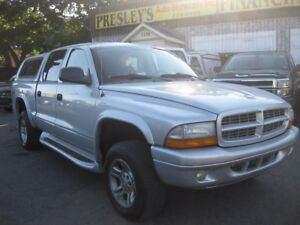 2003 Dodge Dakota Sport V8 Quad Cab 4x4 AC PW PL Cruise