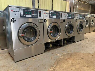 4 Pcs. We73c 18lb Ipso Commercial Washing Machine 220v 3ph Used