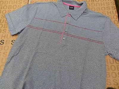 NEW HUGO BOSS MENS STRIPED GREY PAYTON UK MK SALE POLO AFTERSHAVE T-SHIRT (Boss Sale Uk)