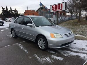 2003 Honda Civic AUTO,4DRS,RIMS,SAFETY+3YEARS WARRANTY INCLUDED