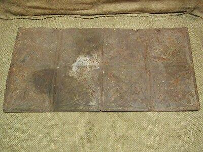 Vintage Metal Architectural Ceiling Tile Antique 6286