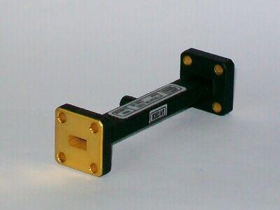 "FMI FLANN MICROWAVE WR28 26.5-40 GHZ waveguide 2.92mm /""K/""  adapter 22093-KF20"