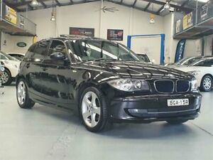2008 BMW 120i E87 MY07 Upgrade Black Sapphire 6 Speed Automatic Hatchback Seven Hills Blacktown Area Preview