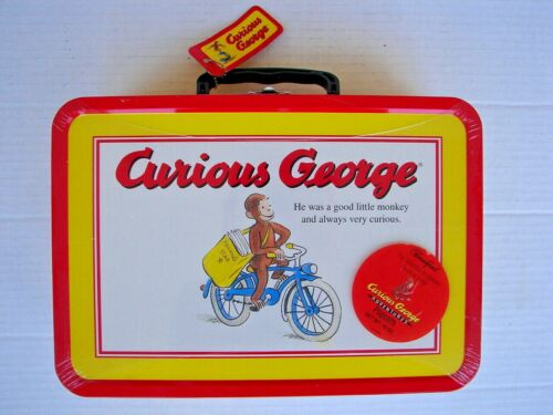 Curious George adventures Frankford collectible popcorn tin box SEALED w/Tag