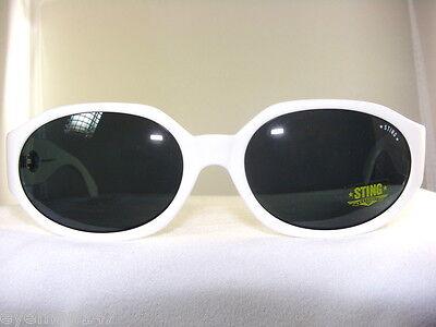 STING VINTAGE WHITE SUNGLASSES GRAY LENSES  MODEL (Sting Vintage Sunglasses)