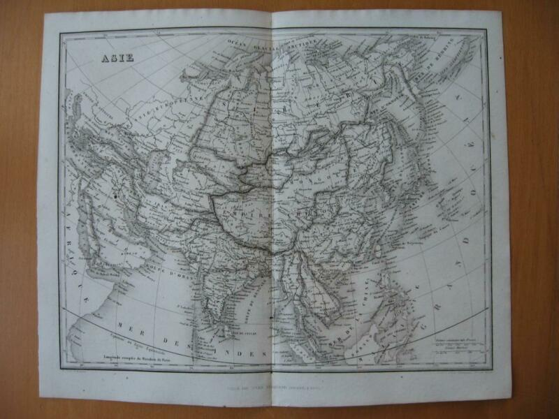 Small 1839 DUFOUR map -  ASIA