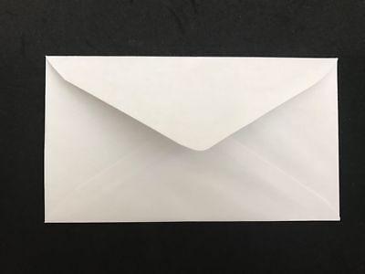 300 Ct White Plain Regular Envelopes-letter Mailing-shipping 3-58x 6-12 Inch