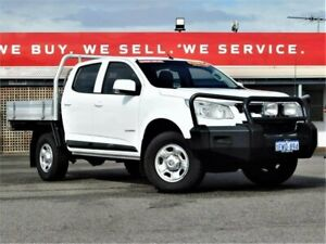 2016 Holden Colorado RG MY16 LS Crew Cab 4x2 White 6 Speed Manual Cab Chassis