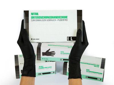 Nitrilhandschuhe Einweghandschuhe Einmalhandschuhe 10x200 Stück L Nitril schwarz