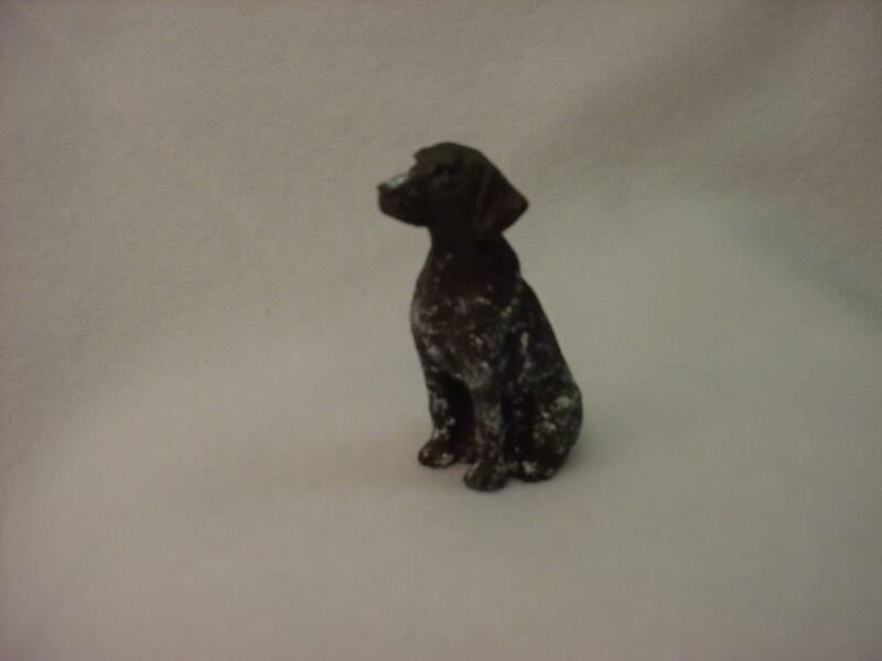 GERMAN SHORTHAIR POINTER dog HAND PAINTED FIGURINE resin MINIATURE Small Mini