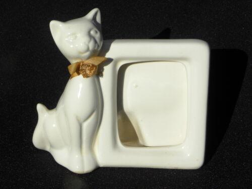 Vintage Emson Ceramic White Cat Picture or Photo Frame