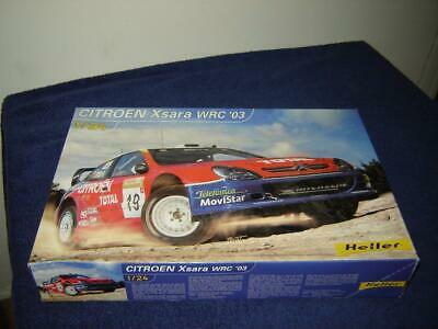 Heller #80751 Citroen Xsara WRC 03 Mint in box 1/24 Scale 2003 Model Kit MIB