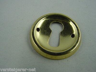Schlüsselschild Messingschild Schlüssellochblende aus Messing poliert