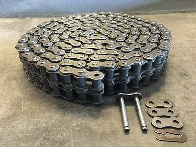 60-2r Roller Chain - 10 W Connecting Link - Double Strand - New In Box 60-2r