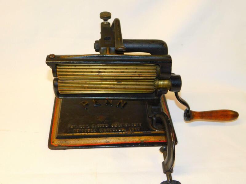 Antique PENN CRIMPER FLUTER Aug 1880 American Machine Co Cast Iron Vintage IRON