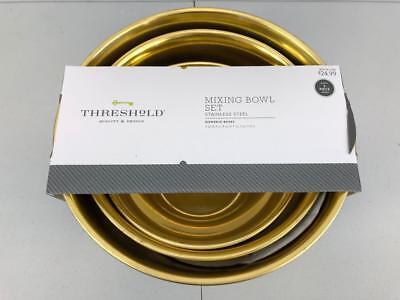 Mixing Bowl (Set of 3) Gold - -