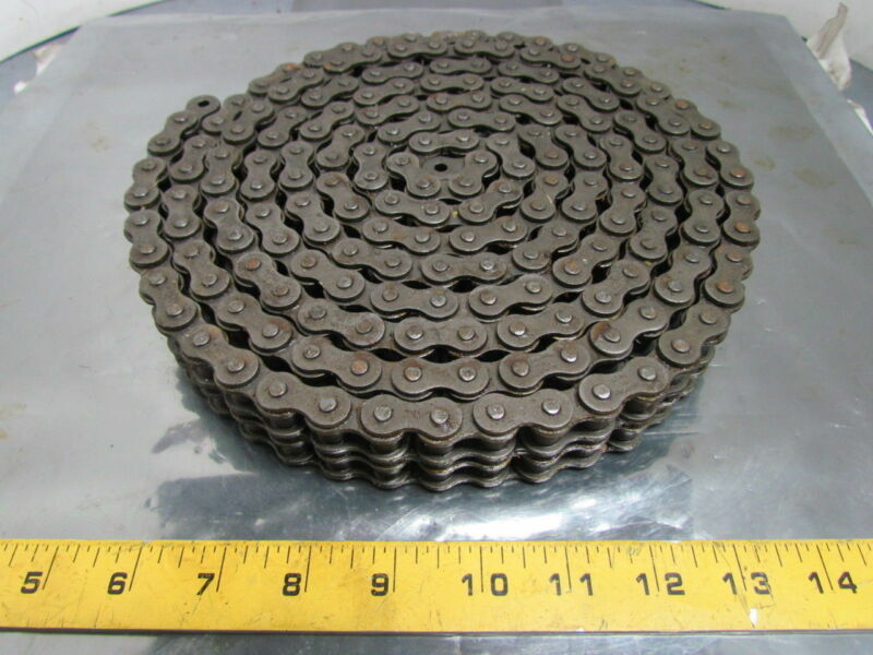 ACME 50-2 No 50 Double Strand Riveted Roller Chain 5/8 Pitch 10 Ft