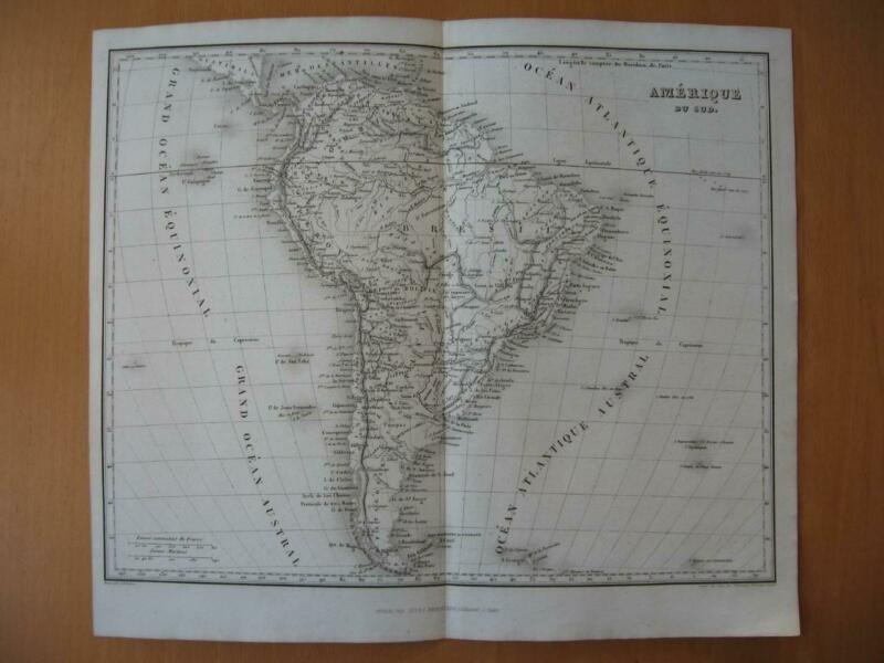Small 1839 DUFOUR map -  SOUTH AMERICA