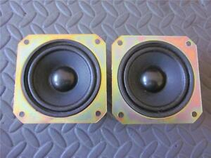 NEW-2-3-5-Woofer-Speakers-FullRange-3-1-2-Square-Frame-8-ohm-three-inch-PAIR