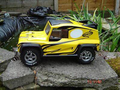 BOWLER WILDCAT 1:10 Land Rover body LEXAN Kamtec Decal