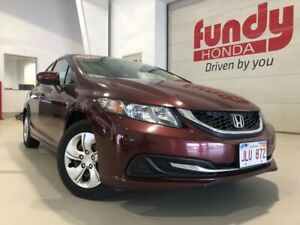2015 Honda Civic Sedan LX w/heated front seats and backup cam ON