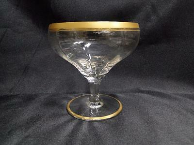 Optic, Clear, Gold Trim on Rim & Base: Champagne/Sherbet (s), 3.5