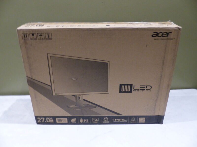 "Acer 27"" IPS LED 4K UHD Monitor Dark gray UM.HB6AA.003"