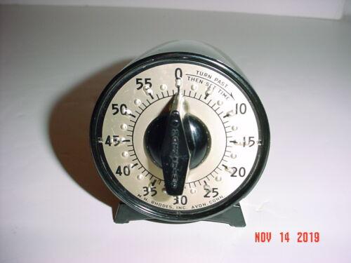 """M H RHODES 60 MINUTE COUNTER DARKROOM KITCHEN """"MARK TIME"""" TIMER - 56419"""