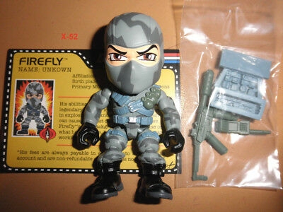 Used, GIJOE gi joe ACTION VINYLS series COBRA camo FIREFLY toy trooper saboteur FIGURE for sale  Shipping to India