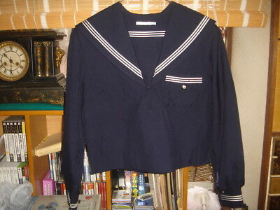 Japanese USED High School Winter Uniform Sailor Suit for Cosplay Costume