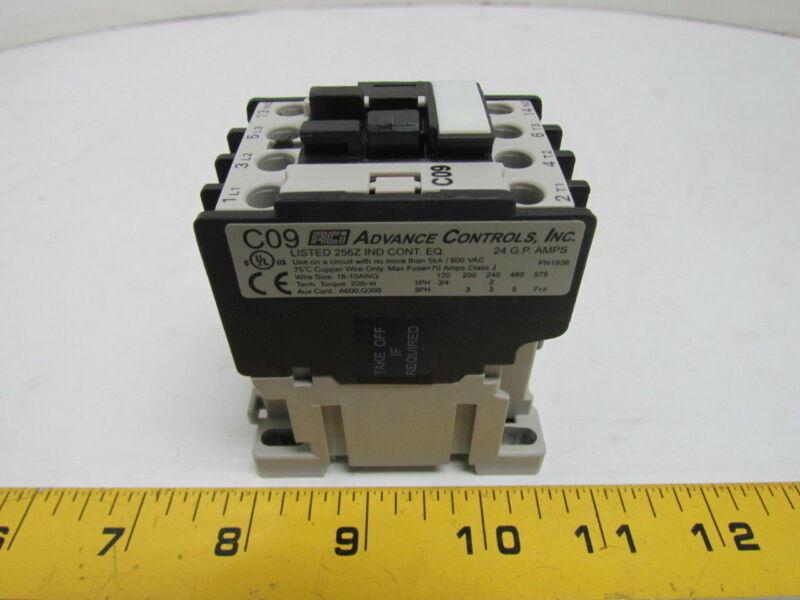 ACI 130036 C09.310-120 Contactor 120 VAC Coil NEW