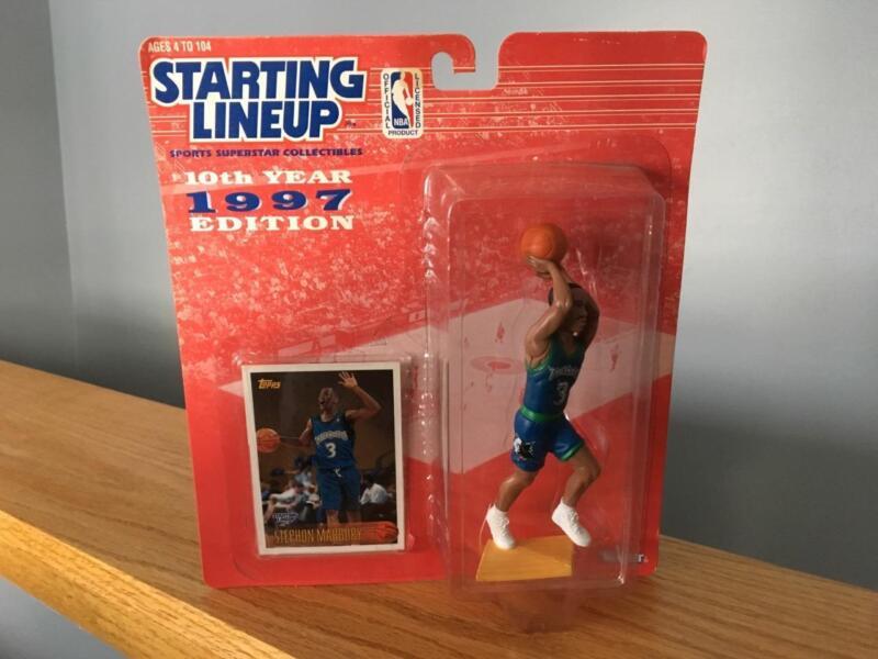 NEW Kenner 1997 Starting Line Up Stephon Marbury MN Timberwolves NBA