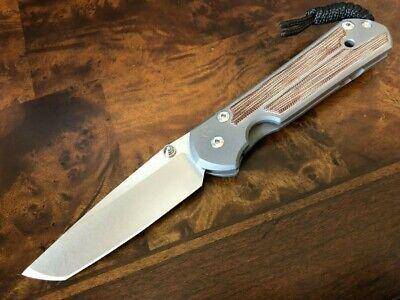 Chris Reeve Knives Large Sebenza 21 Tanto Natural Micarta Inlay L21-1266