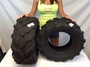 NEW (2) Rear  25-10-12 ATV Quadboss QBT671 Tires 6 ply 25x10x12 lite mud swamp