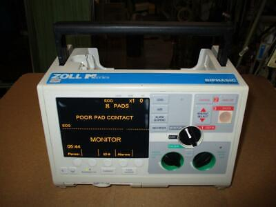 Zoll M Series Biphasic Monitor 3 Lead Ecg Pacing Aed Analyze