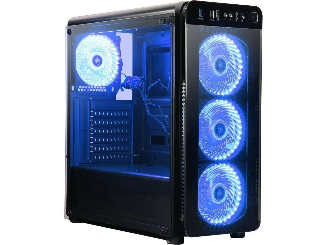 Gaming Desktop Tower NEW GAMING PC Ryzen 8GB AMD Vega GRAPHICS Solid State Drive