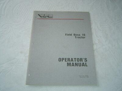 White Field Boss 16 Lawn Garden Tractor Operators Manual