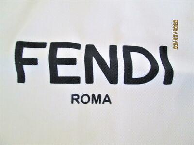 AUTHENTIC FENDI ROMA CREAM COLORED CLOTH  PURSE SHOE DUST BAGS DRAWSTRING POUCH