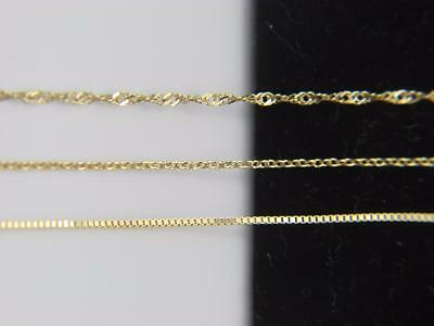 Solid 10k yellow gold Chain Necklace Box chain Rope chain Cable chain 10kt gold (Boxing Gold Chain)