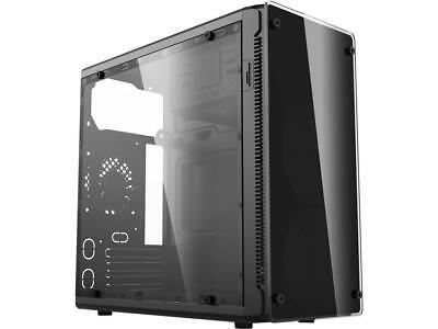 HEC HX210 Black 0.45mm Thickness SECC ATX Mini Tower Computer Case 80mm Rear Fan