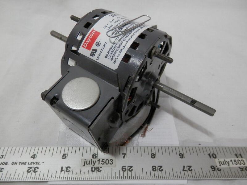 "(1) NEW Dayton 3M730 3.3"" HVAC Motor 1/4"" Shaft 3000 rpm CCW 120 volt 1/40 hp"