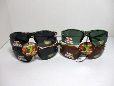 Men's Big Buck Iwear Camouflage Camo Half Rim Sunglasses Polarized Glare (Iwear Sunglasses)