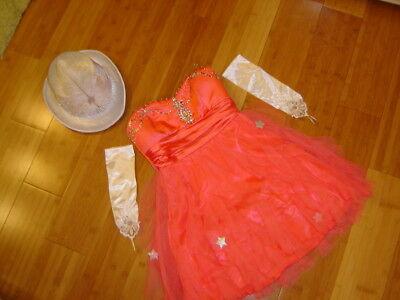 Ringmaster circus performer costume womens 5 melon dress top hat Mardi Gras](Circus Performer Costume)