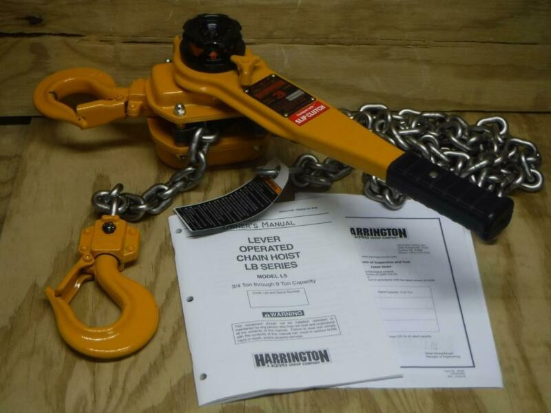 New Harrington LB030-SC-10 Lever Slip Clutch 6000 lb 10 ft. Lift Chain Hoist