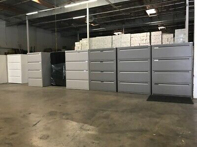 Lateral File Cabinets - 4 Drawer  Key Local Delivery Available
