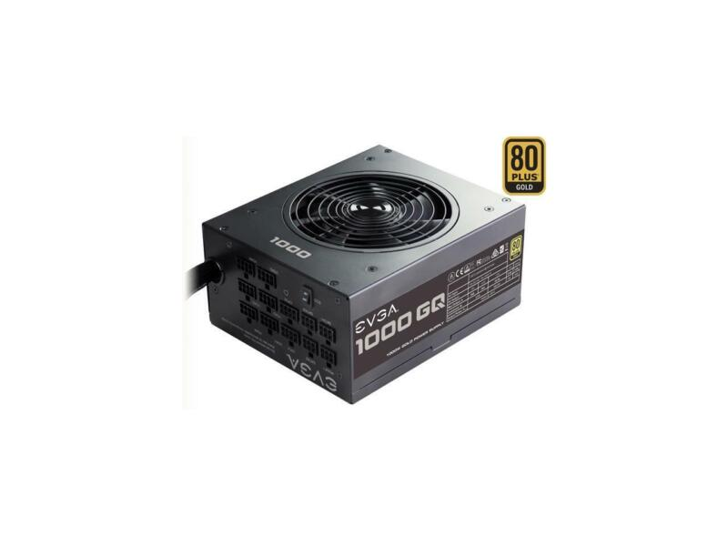 EVGA 1000GQ 210-GQ-1000-V1 GQ 80 Plus Gold, 1000W ECO Mode Semi Modular Power Su