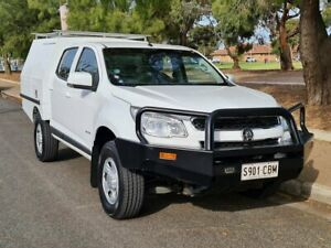 2014 Holden Colorado RG MY14 LX Crew Cab 4x2 White 6 Speed Sports Automatic Cab Chassis Prospect Prospect Area Preview