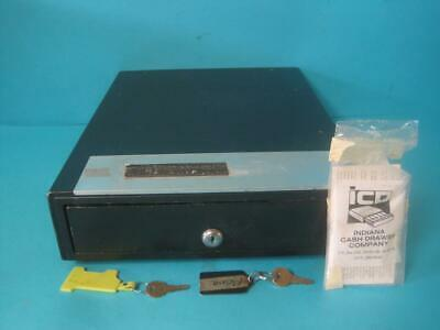 Indiana Cash Drawer Co. Money Tray Insert Pos Register Bills Coins W Lock Key