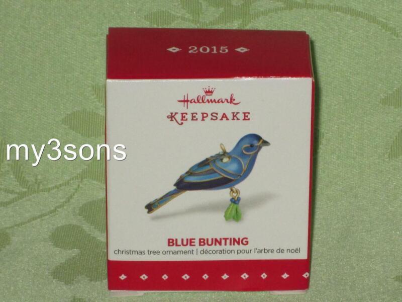 Hallmark ~ Blue Bunting ~ miniature ornament ~ 2015 ~ free shipping